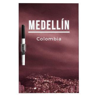 Medellin Kolumbien Trockenlöschtafel