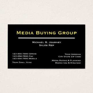 Medien, die Businesscards kaufen Visitenkarte