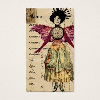 Medien-Puppe mit rosa Flügeln Visitenkarte