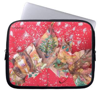 Medilludesign - frohe Weihnachten Laptop Sleeve