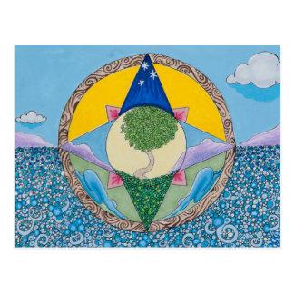 Meditation auf Erde Postkarte
