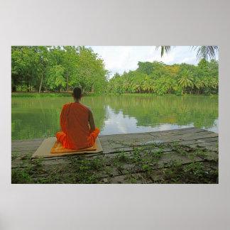 Meditation durch das Seeplakat Poster