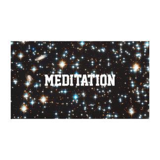 MEDITATION IN HYPERSPACE LEINWANDDRUCK