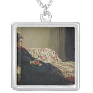 Meditation oder Madame Monet Claude Monets | Versilberte Kette