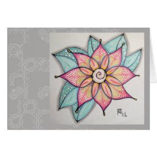 Meditations-Blumen, leeres Innere Grußkarte