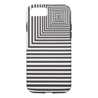 Meditations-Schwerpunkt-Muster weiß und schwarz iPhone 8/7 Hülle