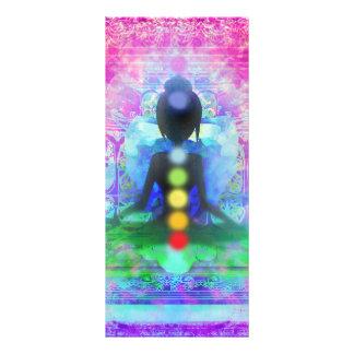Meditations-Yoga-Gestell-Karte Werbekarte