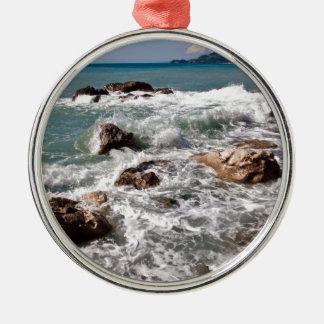 Meditative Kraft des Meeres - Insel Sizilien Silbernes Ornament