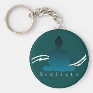 """""""Meditieren"""" schöner Buddha Schlüsselanhänger"""