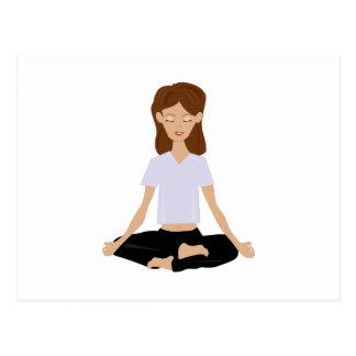 Meditierende Frau Postkarte