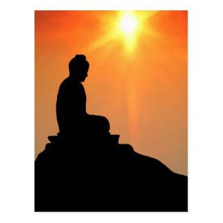 Meditierender Buddha Postkarte