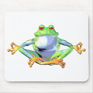 Meditierender Frosch Mauspad