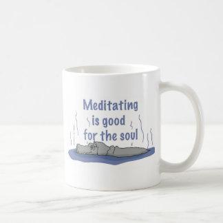 Meditierender Hippopotamus Kaffeetasse