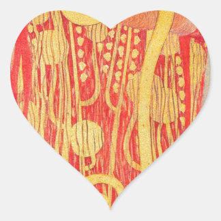 Medizin Gustav Klimt Herz-Aufkleber