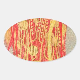 Medizin Gustav Klimt Ovaler Aufkleber
