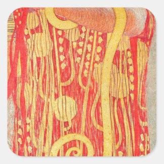 Medizin Gustav Klimt Quadratischer Aufkleber