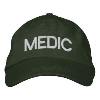 Mediziner Flexfit Kappe - Grün Bestickte Baseballmütze