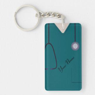 Medizinisch scheuert Krankenschwester-aquamarines Schlüsselanhänger