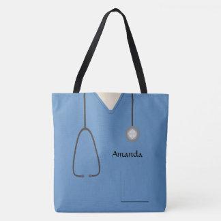 Medizinisch scheuert Krankenschwester blaues AOPM Tasche