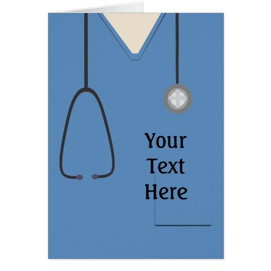 Medizinisch scheuert Krankenschwester-Doktor Blue Karte