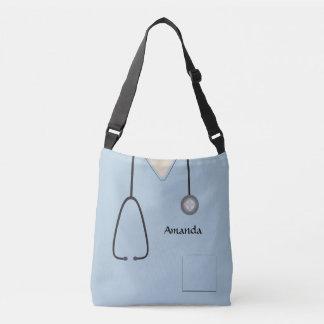 Medizinisch scheuert Krankenschwester hellblaues Tragetaschen Mit Langen Trägern