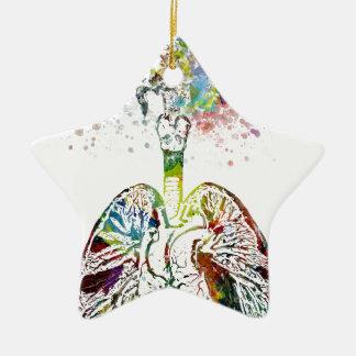 Medizinische Geschenke Herz und Lunge-Motiv Keramik Ornament