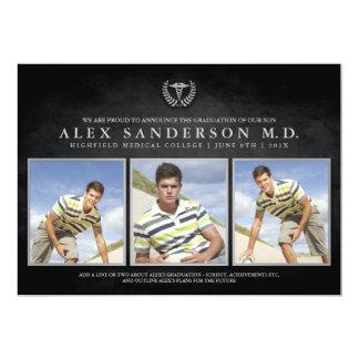 Medizinische SchulAbschluss-Foto-Karte mit 12,7 X 17,8 Cm Einladungskarte