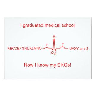 Medizinische SchulAbschluss-Karten 12,7 X 17,8 Cm Einladungskarte