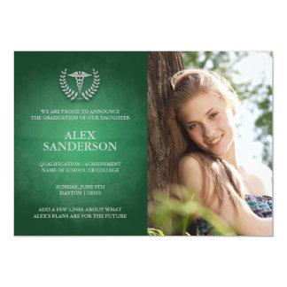 Medizinische SchulAbschluss-Mitteilungs-Foto-Karte 12,7 X 17,8 Cm Einladungskarte