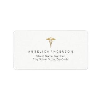 Medizinisches Caduceus-Symbol-Adressen-Etikett Adressaufkleber