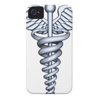 Medizinisches Symbol-Silber iPhone 4 Case-Mate Hülle