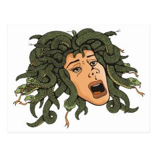 Medusa-Kopf Postkarte