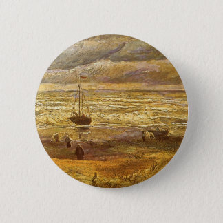 Meer in Scheveningen durch Vincent van Gogh Runder Button 5,7 Cm