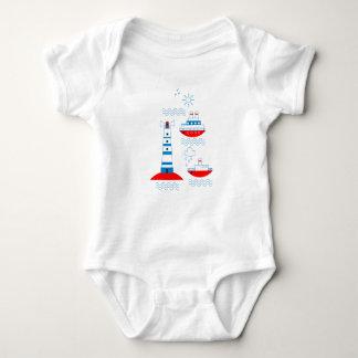 Meer, Schiffe, Leuchttürme, Seemöwen Baby Strampler