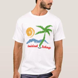 Meer Trinidad und Tobagos Sun und Kokosnuss-Baum T-Shirt