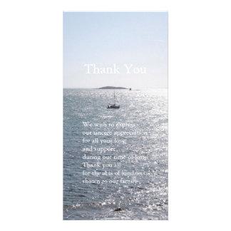 Meer und Boot 4 - Beileid danken Ihnen Foto-Karten Bild Karte