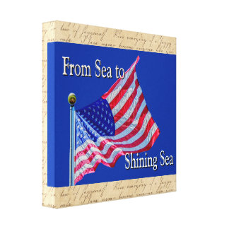 Meer zu glänzendem Meer - Leinwand-Kunst-Druck Leinwanddruck