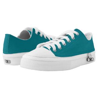 Meerblaugrüne zipz Turnschuhe Niedrig-geschnittene Sneaker