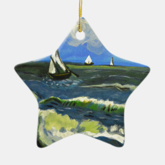 Meerblick bei Saintes-Maries, Van Gogh Keramik Ornament