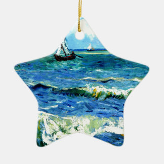Meerblick bei Saintes-Maries, Vincent van Gogh Keramik Ornament