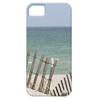 Meerblick durch den verwitterten Strandzaun iPhone 5 Schutzhülle