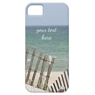 Meerblick durch den verwitterten Strandzaun iPhone 5 Schutzhüllen