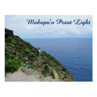 Meerblick Makapuu Punkt-Leuchtturm-Hawaiis Oahu Postkarte