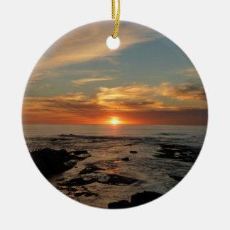Meerblick San Diego Sonnenuntergang-II Kalifornien Keramik Ornament