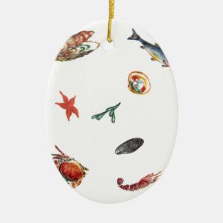Meeresfrüchte Keramik Ornament