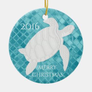 Meeresschildkröte-Aqua-Seeglas personifizieren Keramik Ornament