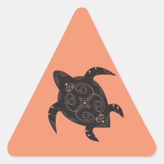 Meeresschildkröte-Bauch Dreieckiger Aufkleber