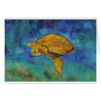 Meeresschildkröte durch Paula Atwell Karte
