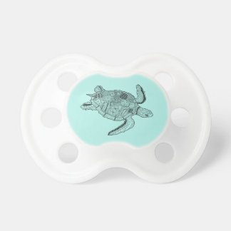 Meeresschildkröte Lineart Entwurf Schnuller