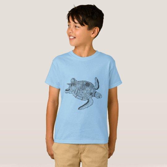 Meeresschildkröte Lineart Entwurf T-Shirt